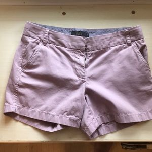 J. Crew chino shorts in orchard/lavender